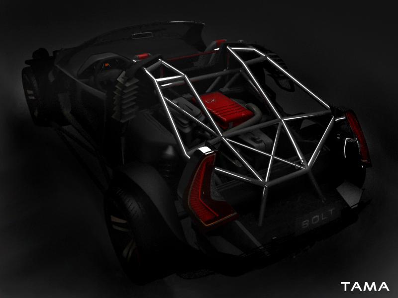 le châssis tubulaire BOLT Roadster Concept