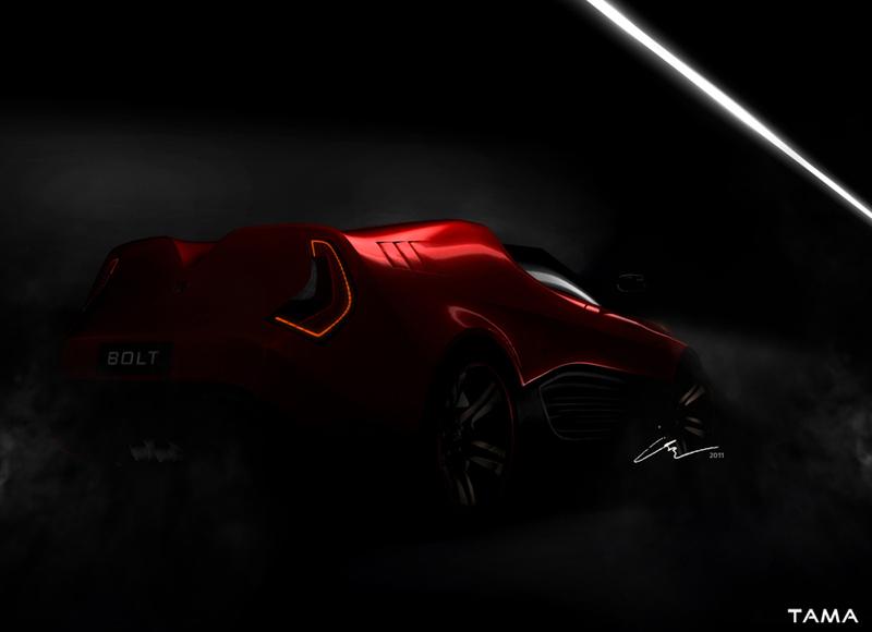 teaser-arrière BOLT Roadster Concept