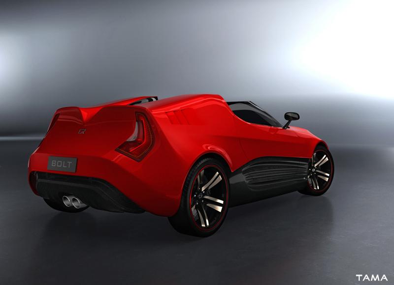 vue arrière BOLT Roadster Concept