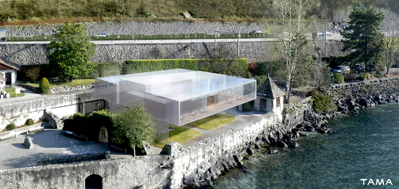 la nouvelle cafétéria offre une terrasse côté Lac avec vue inégalée Château de Chillon