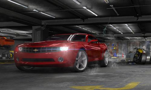 illustration 3D du Chevrolet Camaro