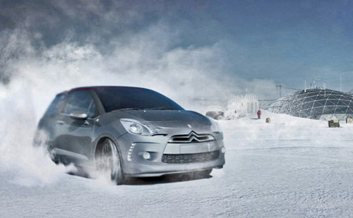 illustration 3D pour affiche du Citroen DS3