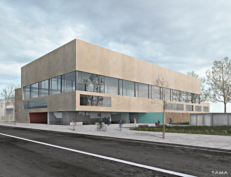 bâtiment sécurité salle omnisports Collège Secondaire Rives Caserne de Pompiers Yverdon