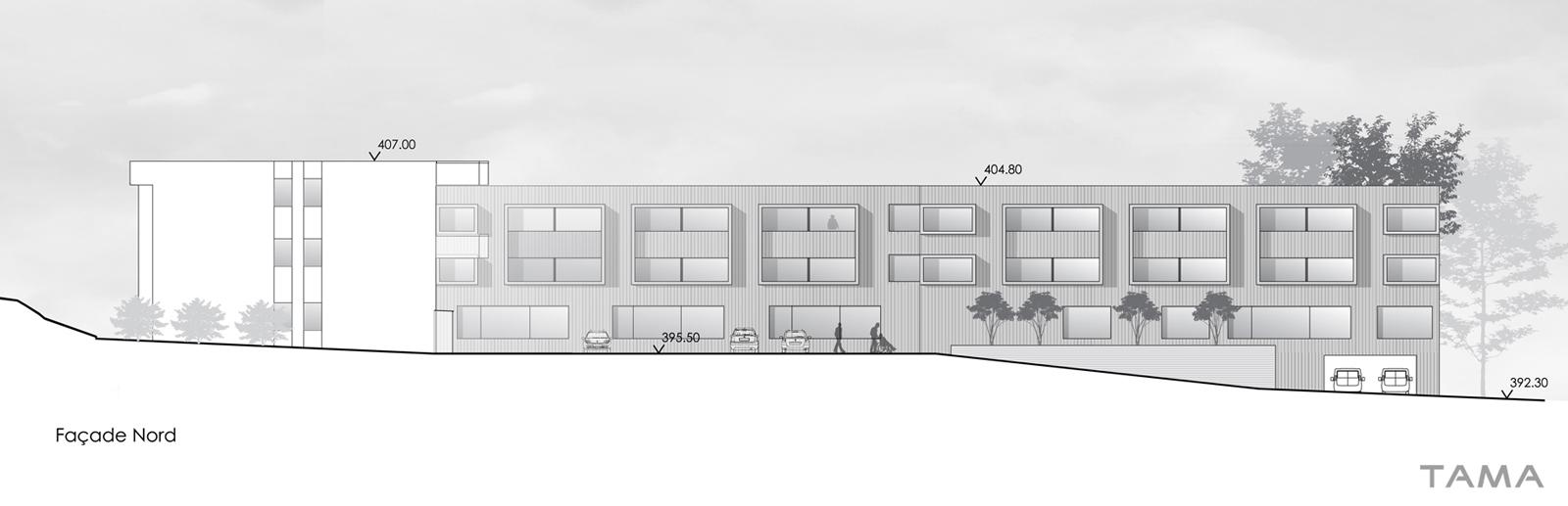 façade Nord Extension EMS Burier