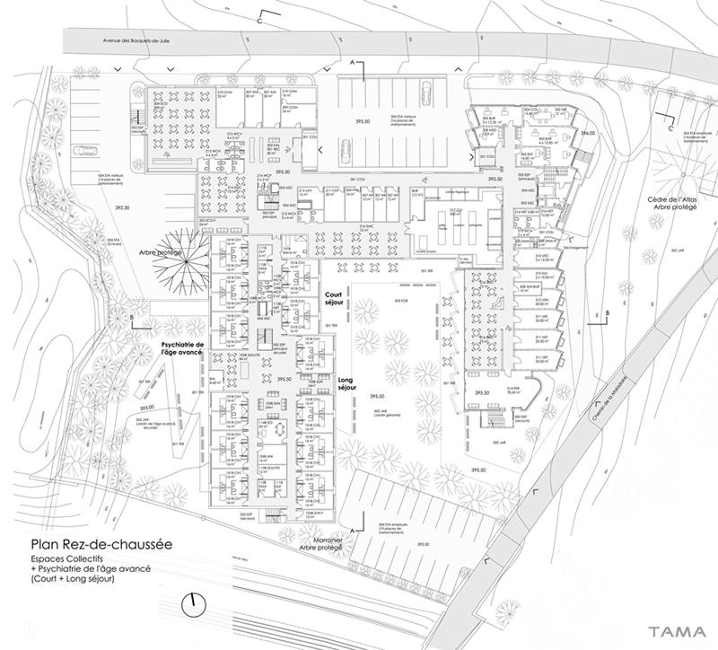 plan du rez-de-chaussée Extension EMS Burier