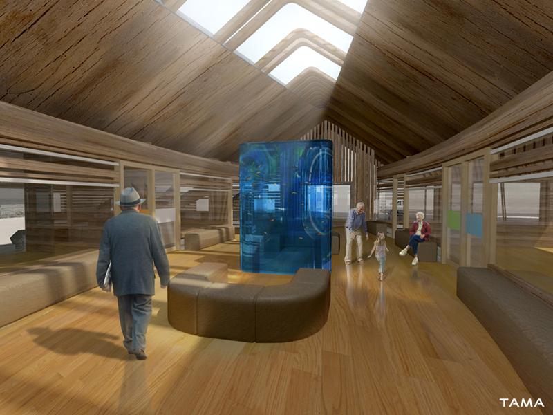 vue intérieure du centre d'accueil, foyer, et magasins EMS CSSC Sainte Croix