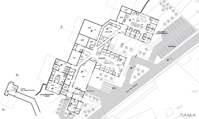 plan du rez-de-chaussée EMS CSSC Sainte Croix