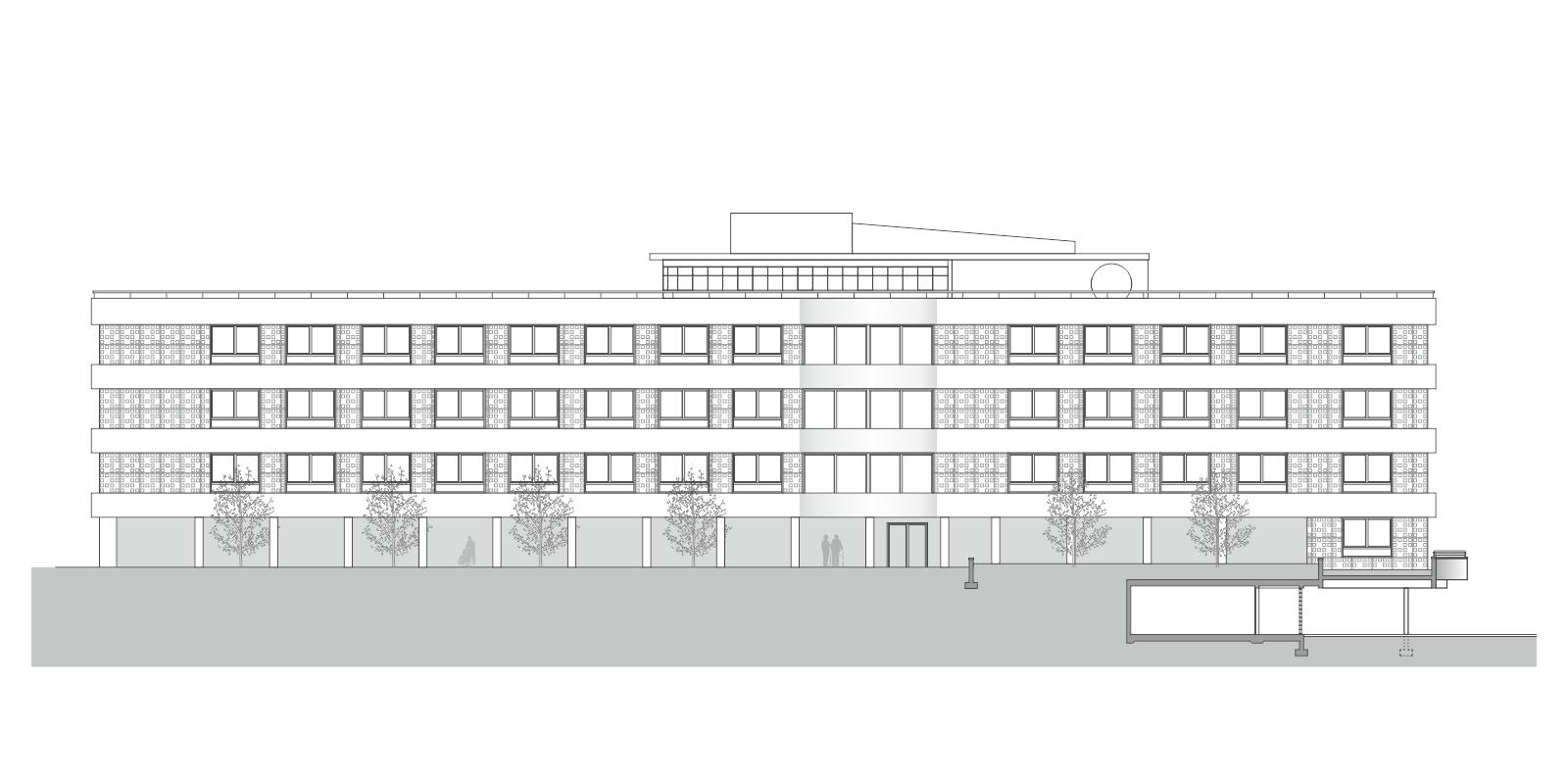 façade Sud EMS Ste Claire
