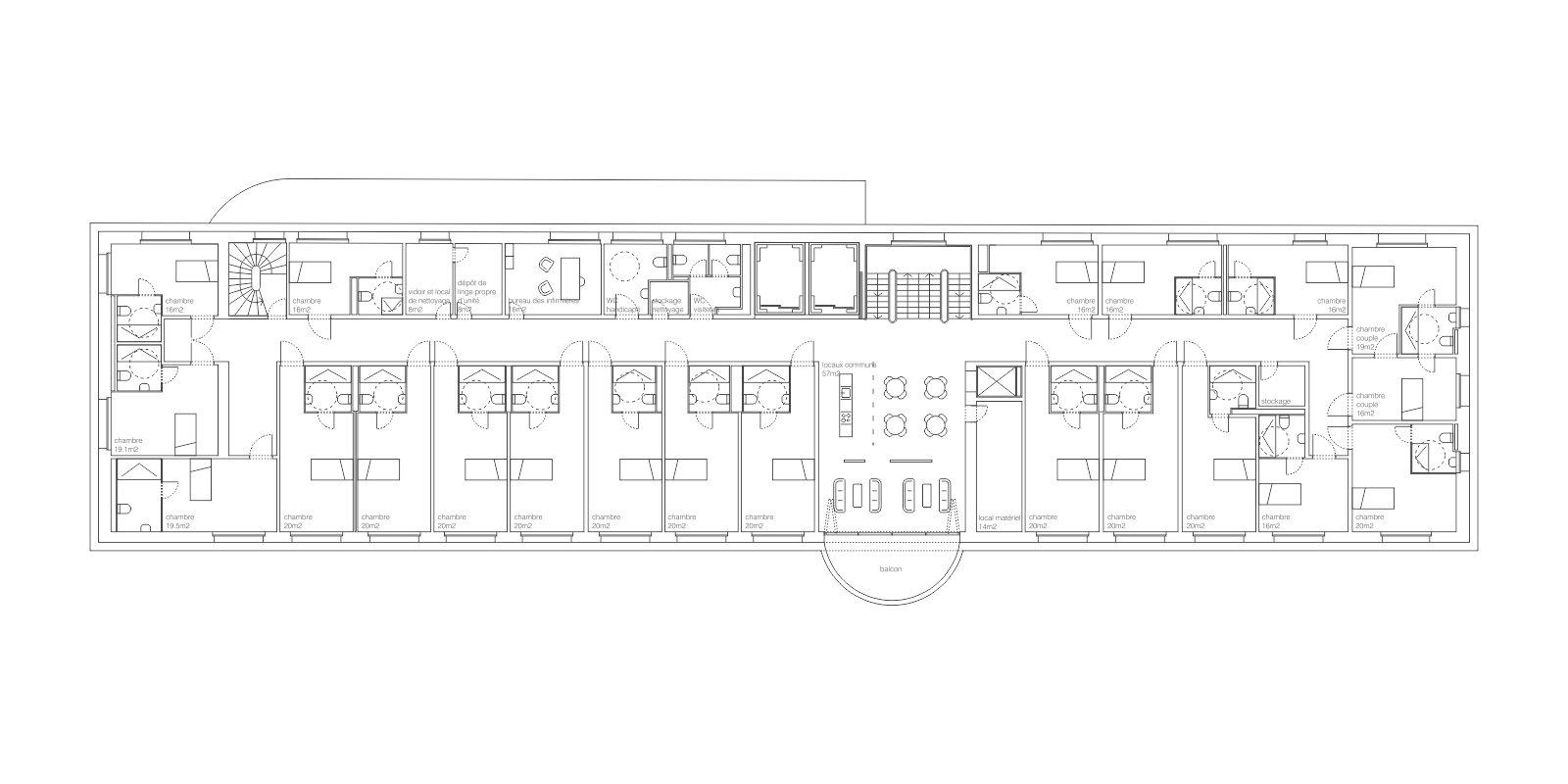 plan 1er étage EMS Ste Claire