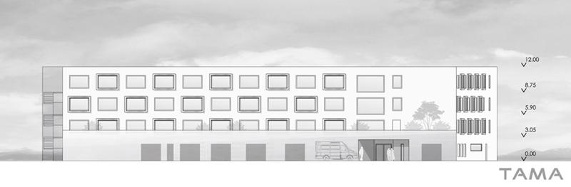façade Nord EMS des 4 Marronniers