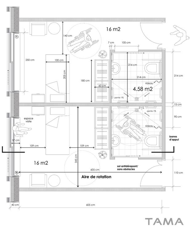 plan d'aménagement EMS des 4 Marronniers