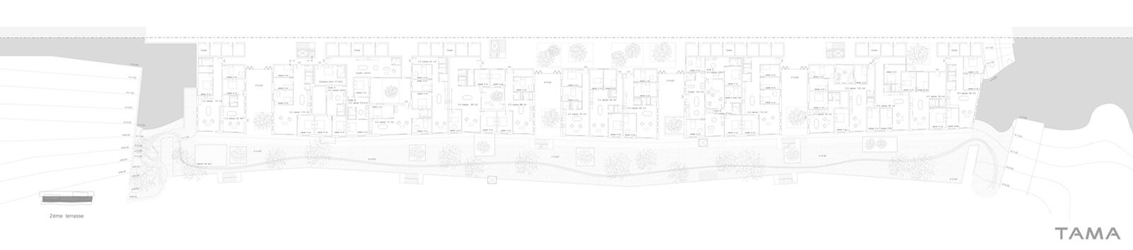plan 2eme etage des terrasses Eco-quartier du Stand Nyon