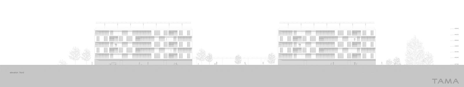 élévation Nord Eco-quartier du Stand Nyon