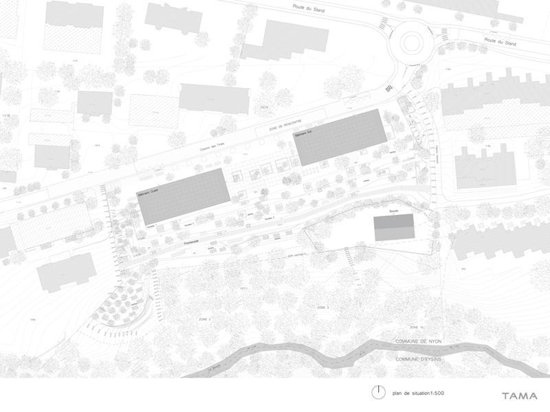 plan de situation Eco-quartier du Stand Nyon