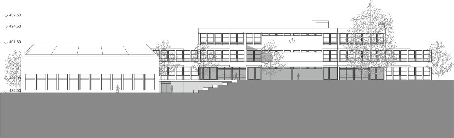 façade Sud Ecole Ardon