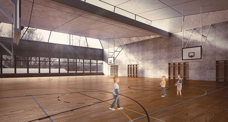 visualisation salle de gymnastique Ecole Ardon