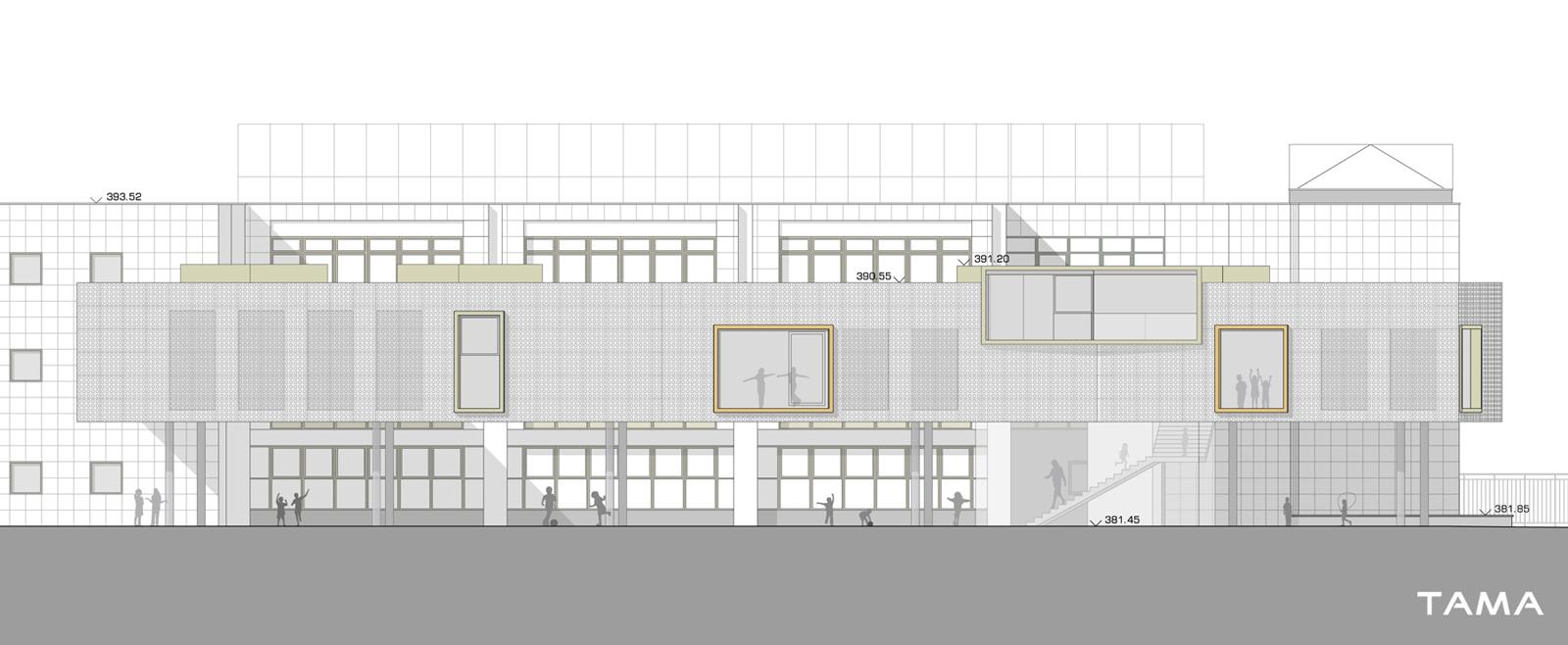 façade Est Ecole du Val d'Arve