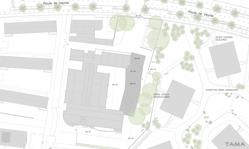 plan de situation Ecole du Val d'Arve