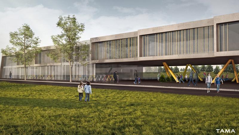 visualisation 3d architecturale Ecole du Reposoir