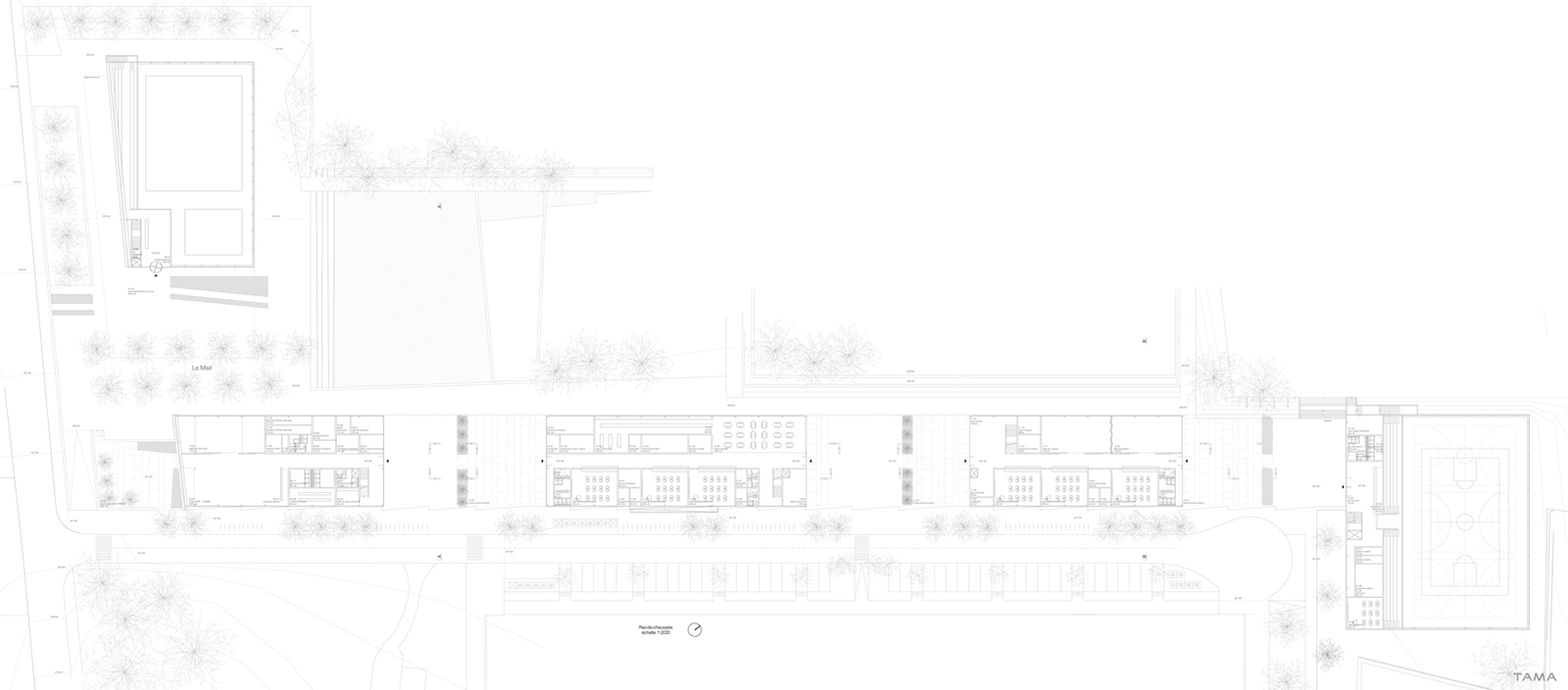 plan du rez-de-chaussée Ecole du Reposoir Nyon