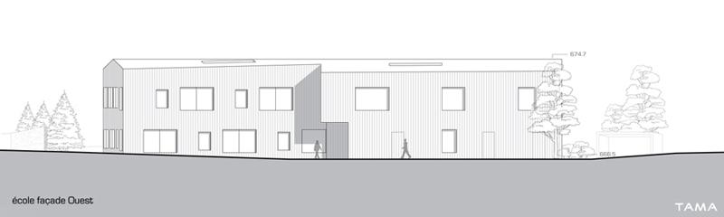 façade Sud de l'école Le Home Chez Nous