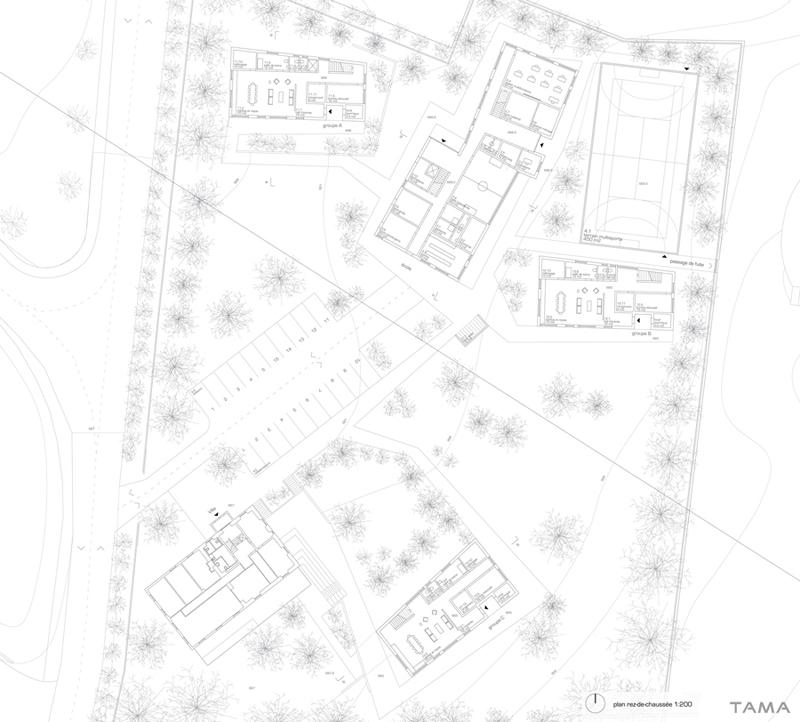 plan du rez-de-chaussée Le Home Chez Nous