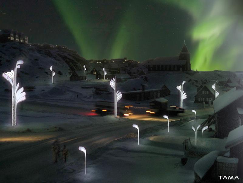 image artistique des rues du grand nord Jeux de Lumière Cryoluminessence