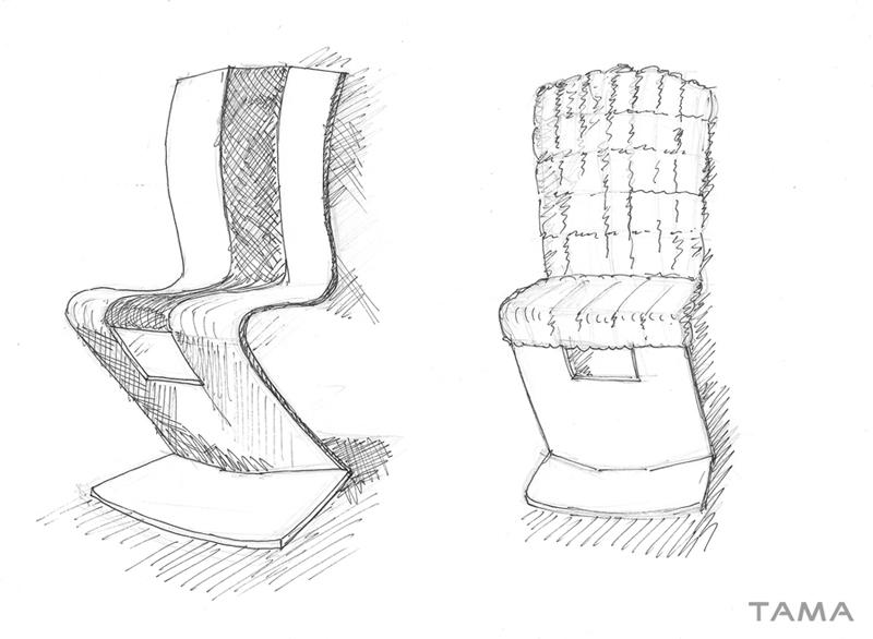 ébauche MAGMA chaise