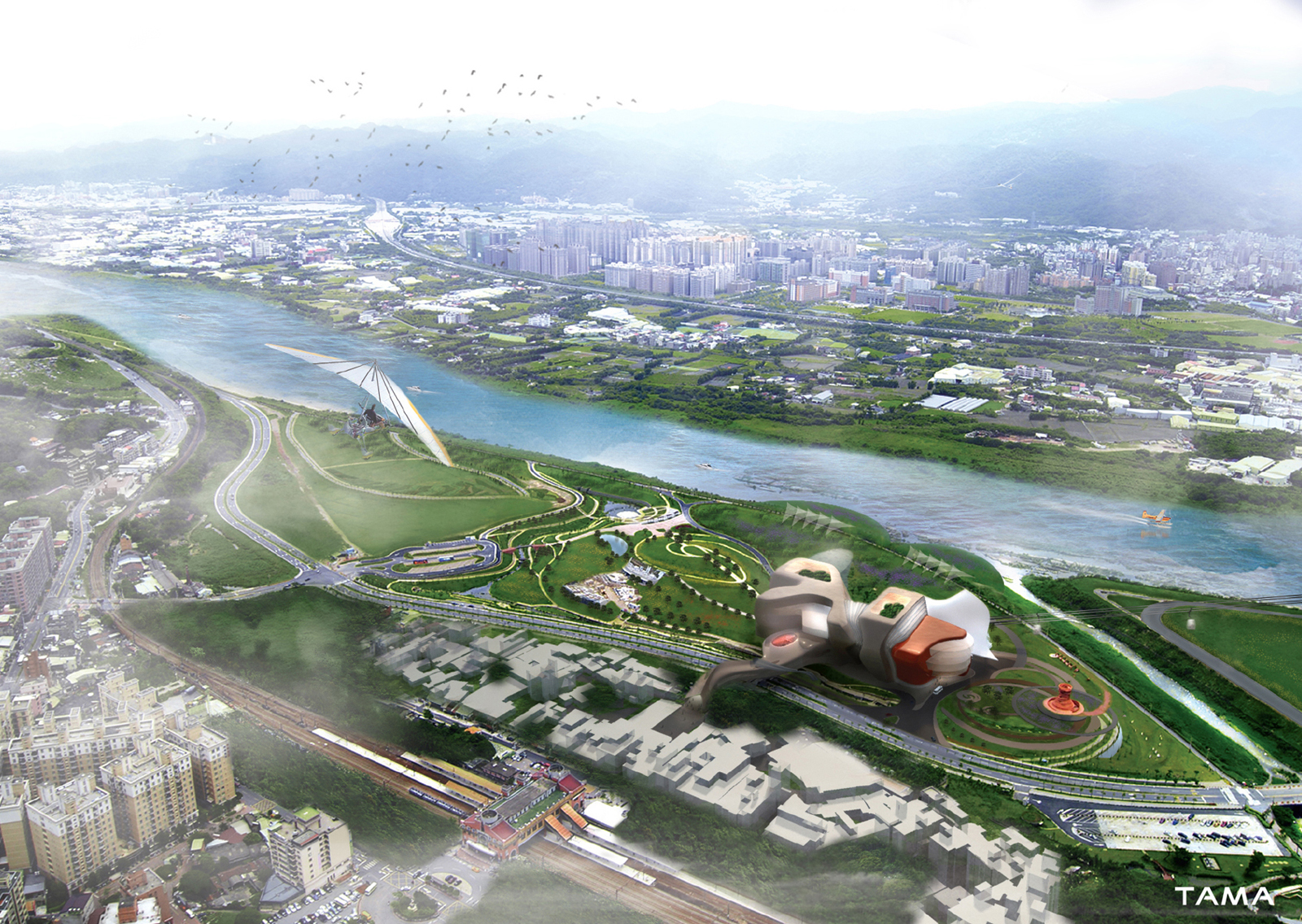aerial vue New Taipei City Museum of Art