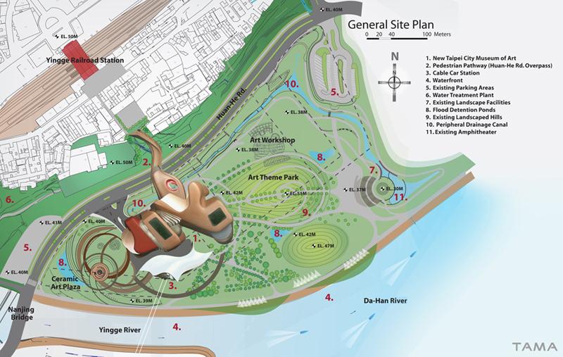 general site plan New Taipei City Museum of Art