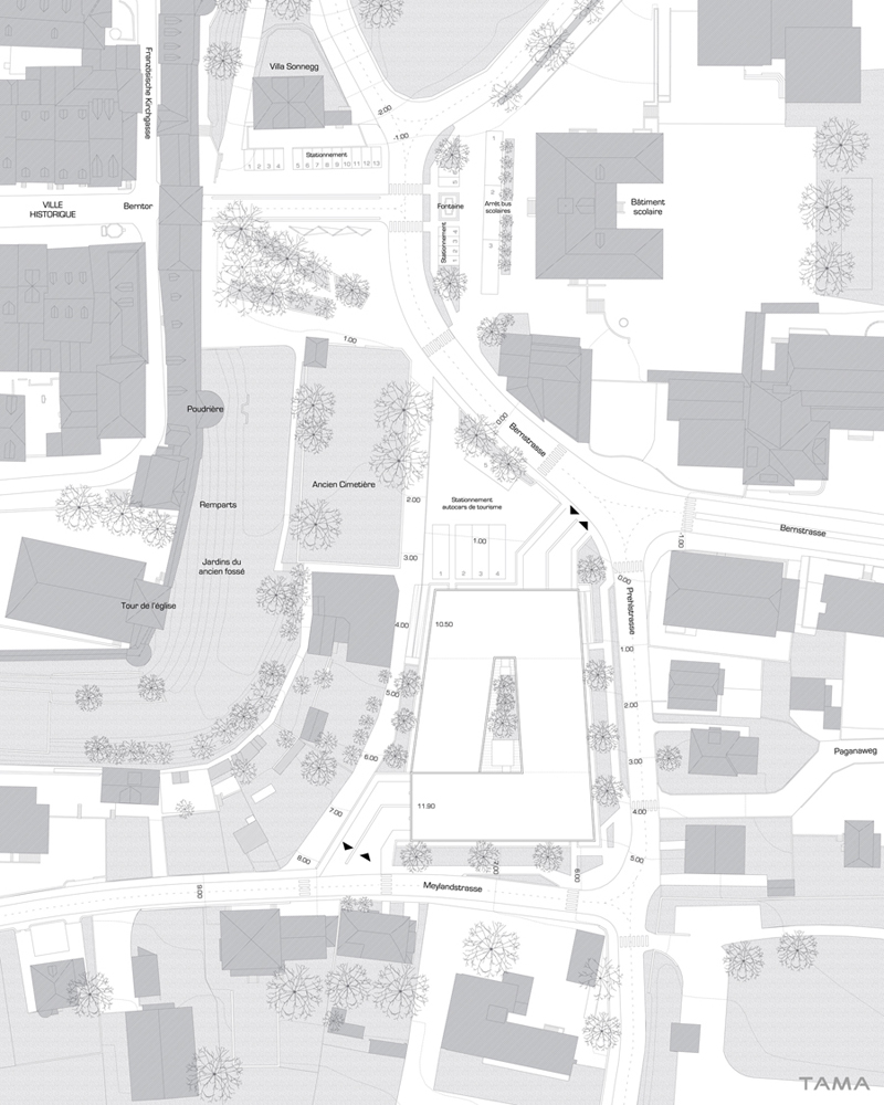 plan de situation Parking de Morat