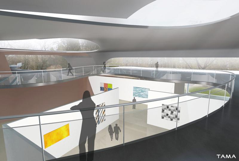 view of the exhibition hall Serlachius Fine Arts Museum