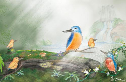 illustration Sunny Kingfisher