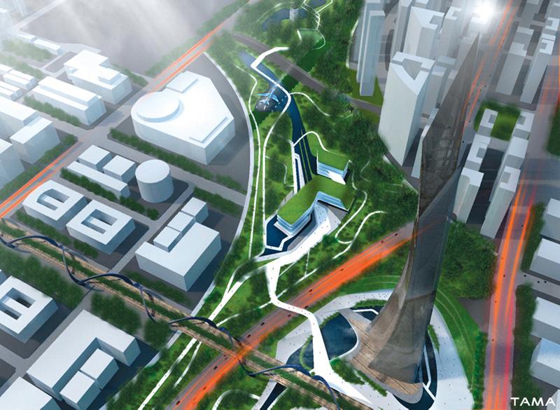 aerial view Taichung Gateway Park