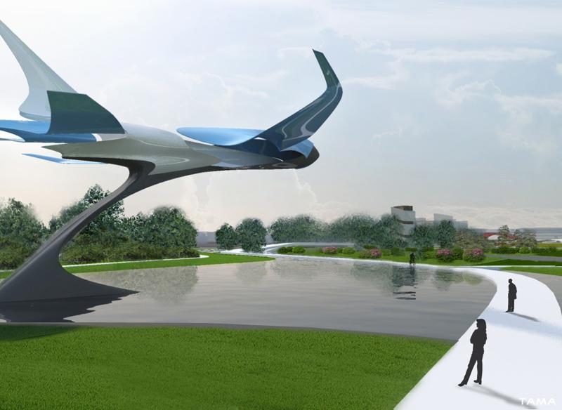 Airplane Sculpture Taichung Gateway Park