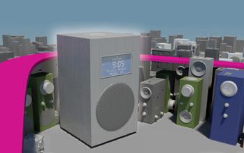 illustration 3D affiche Tivoli Audio