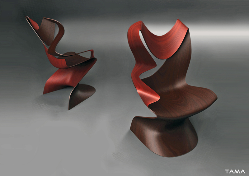 visualisation 3d industrielle chaise