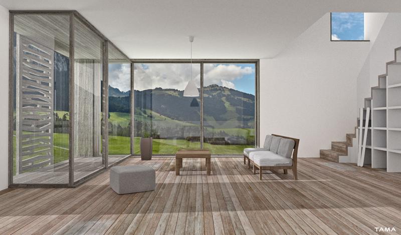 visualisation 3d architecturale intérieur d'appartement