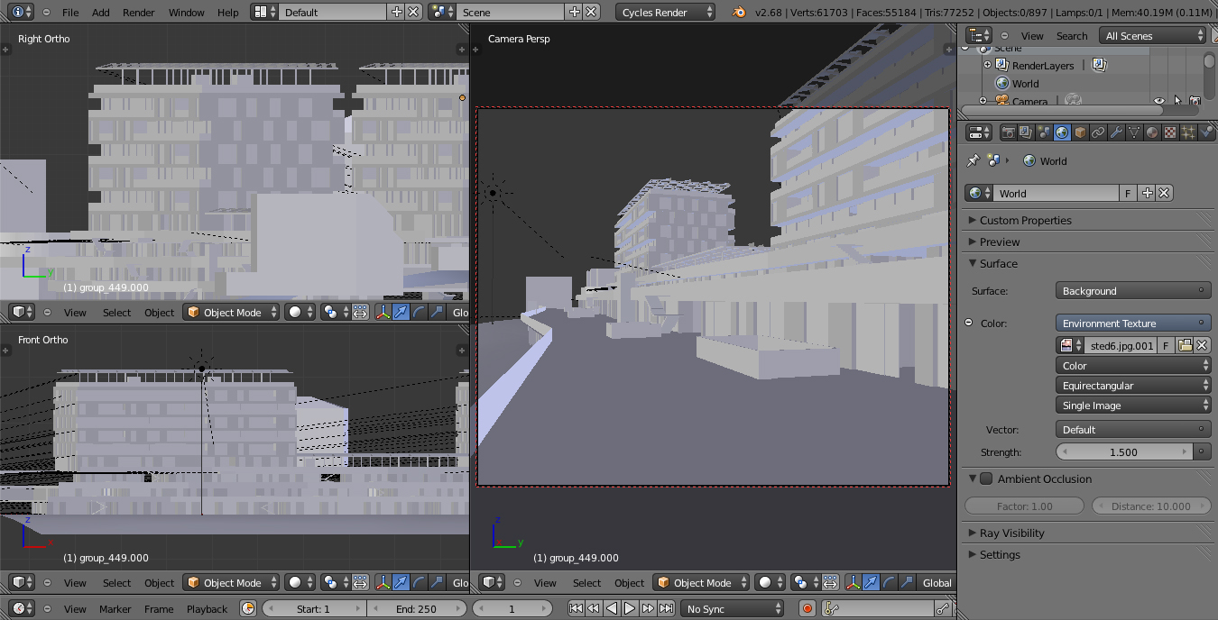 screenshot de modèle 3d en cours de production