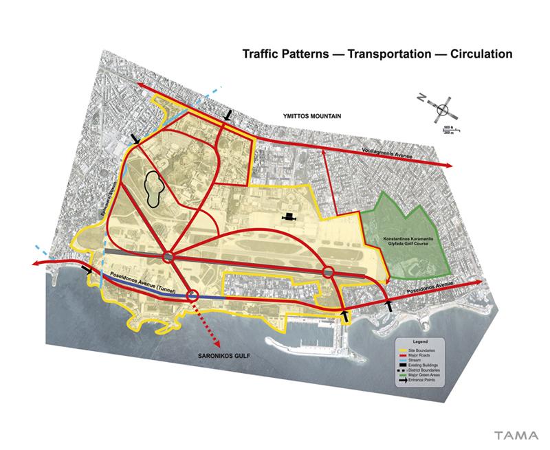 circulation plan old Ellinikon International Airport Masterplan