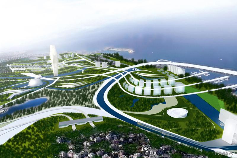 perspective old Ellinikon International Airport Masterplan