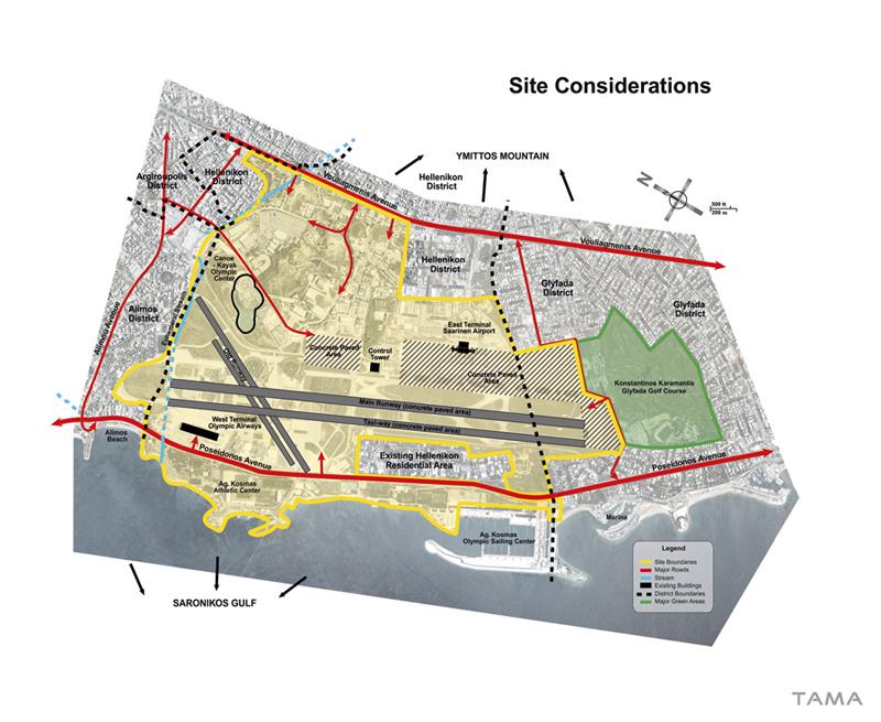 site considerations old Ellinikon International Airport Masterplan
