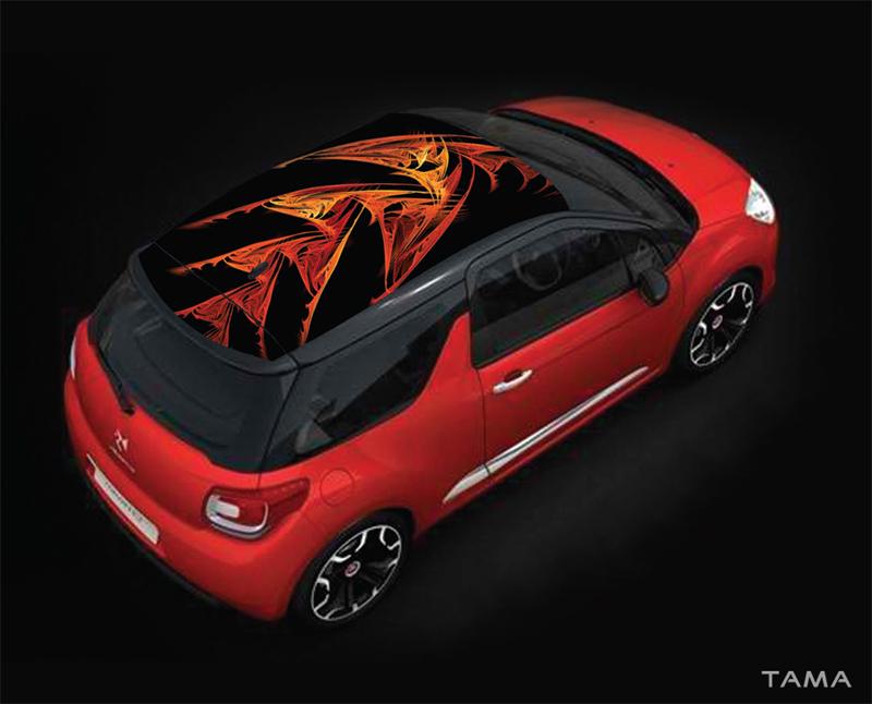 Fractal Symphony design pour le toit du Citroen DS3