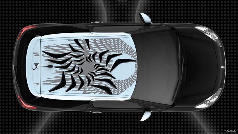 The Golden Rule design pour le toit du Citroen DS3