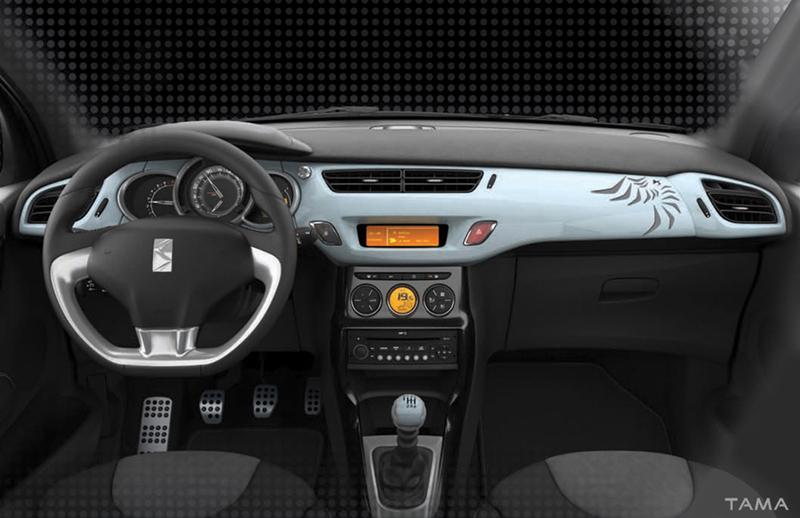 The Golden Rule design pour le toit et le tableau du Citroen DS3