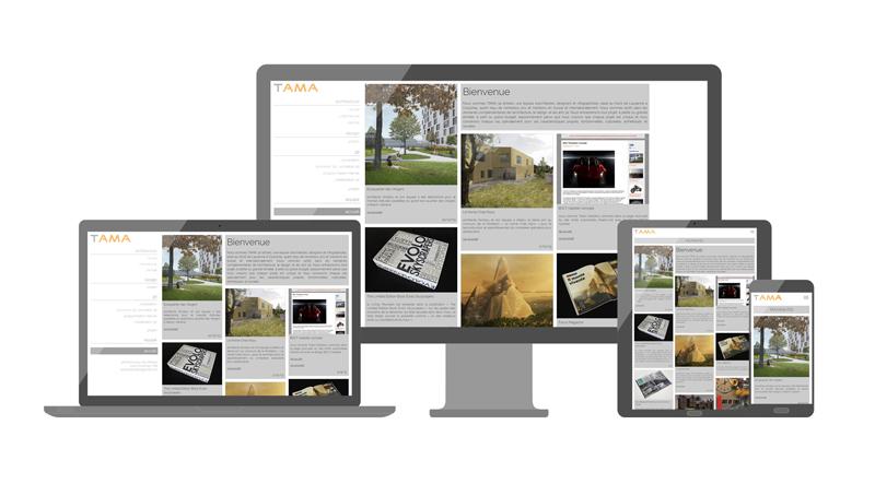 site internet TAMA responsive adaptatif